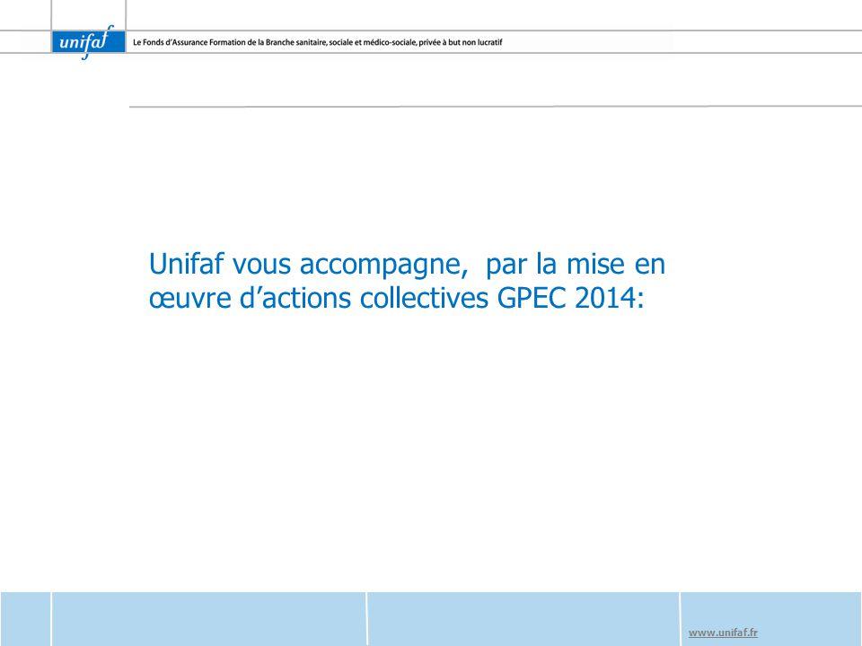 www.unifaf.fr Unifaf vous accompagne, par la mise en œuvre d'actions collectives GPEC 2014: