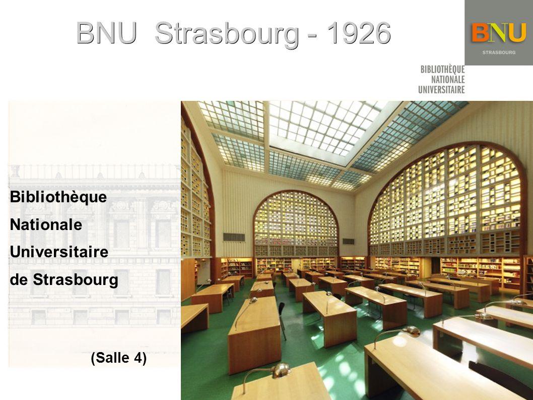 BNU Strasbourg - 1926 Bibliothèque Nationale Universitaire de Strasbourg (Salle 4)