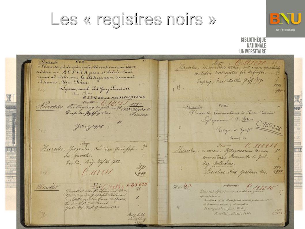 Les « registres noirs »