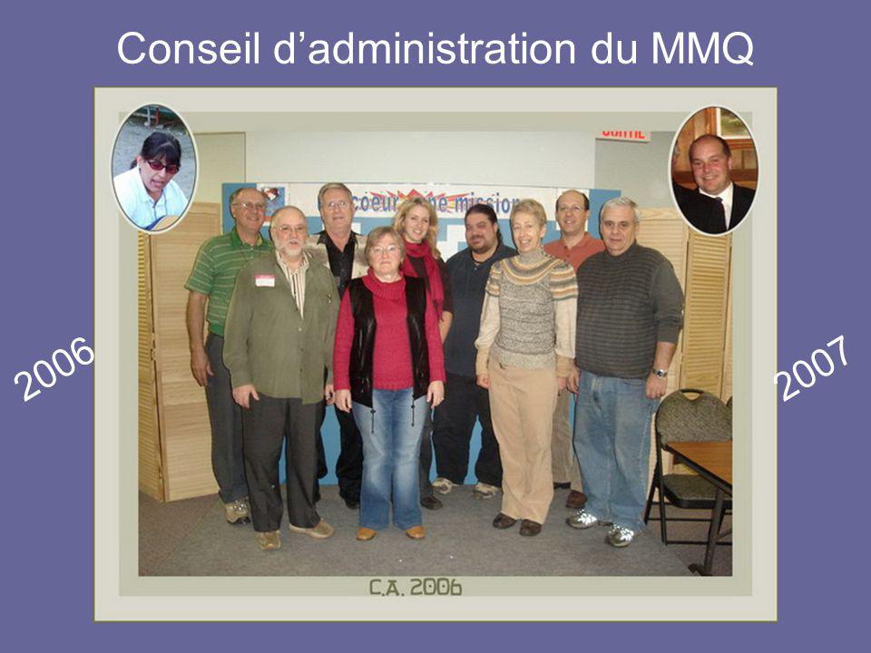 Conseil d'administration du MMQ 20062007