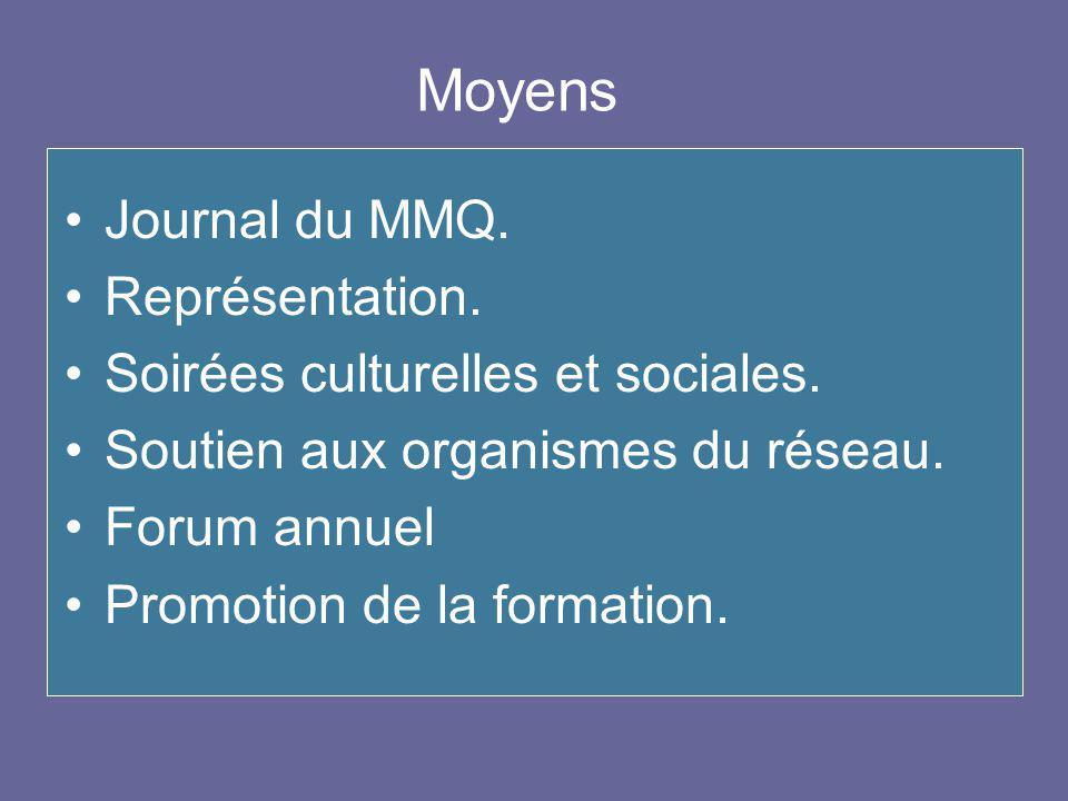 Journal du MMQ. Représentation. Soirées culturelles et sociales.