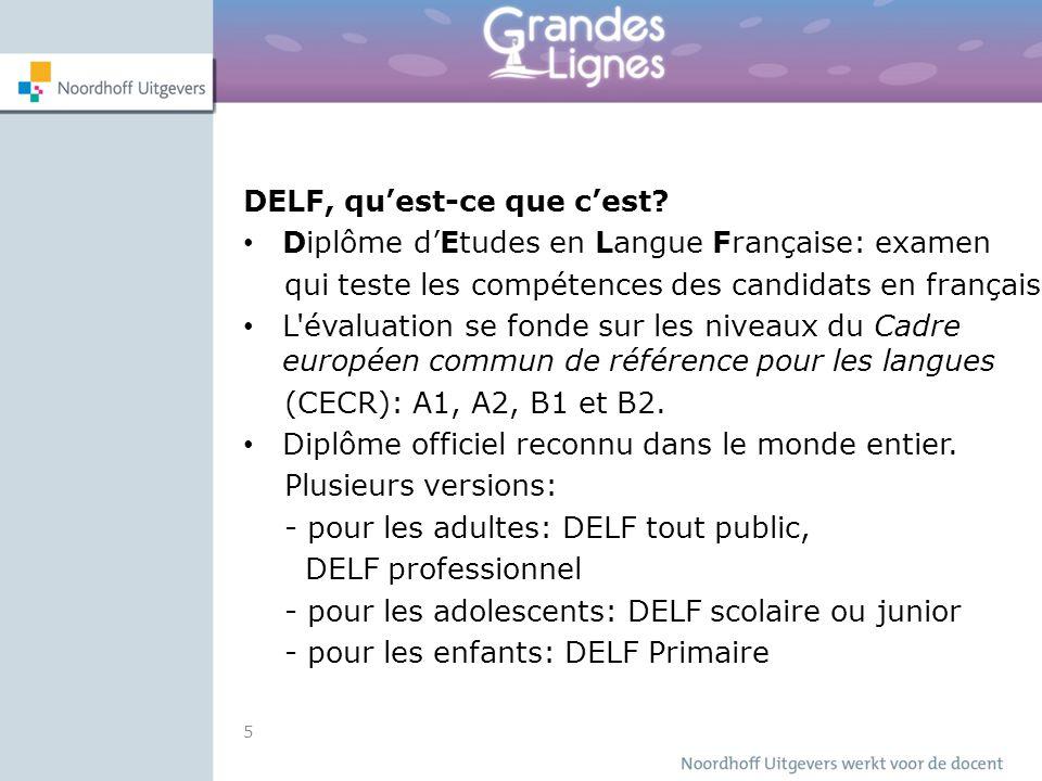 DELF, qu'est-ce que c'est? Diplôme d'Etudes en Langue Française: examen qui teste les compétences des candidats en français L'évaluation se fonde sur