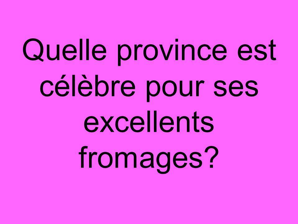 Quelle province est célèbre pour ses excellents fromages?