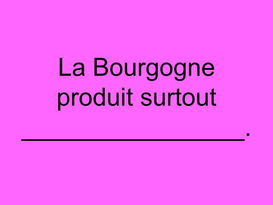 La Bourgogne produit surtout ________________.