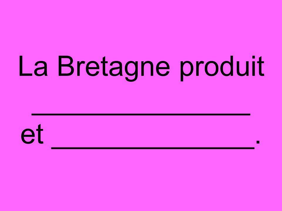 La Bretagne produit ______________ et _____________.