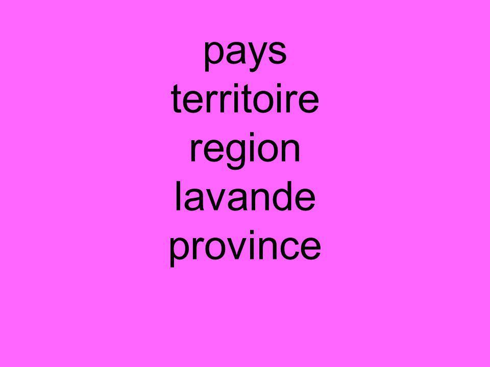 pays territoire region lavande province