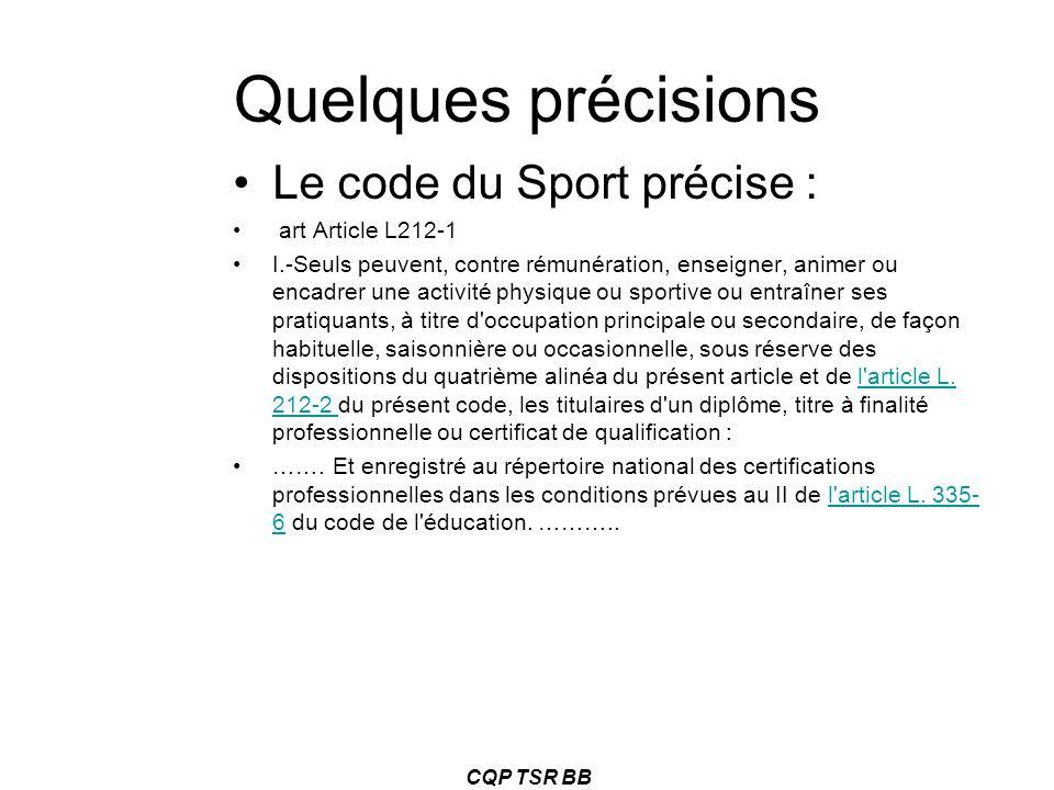 Quelques précisions Le code du Sport précise : art Article L212-1 I.-Seuls peuvent, contre rémunération, enseigner, animer ou encadrer une activité ph