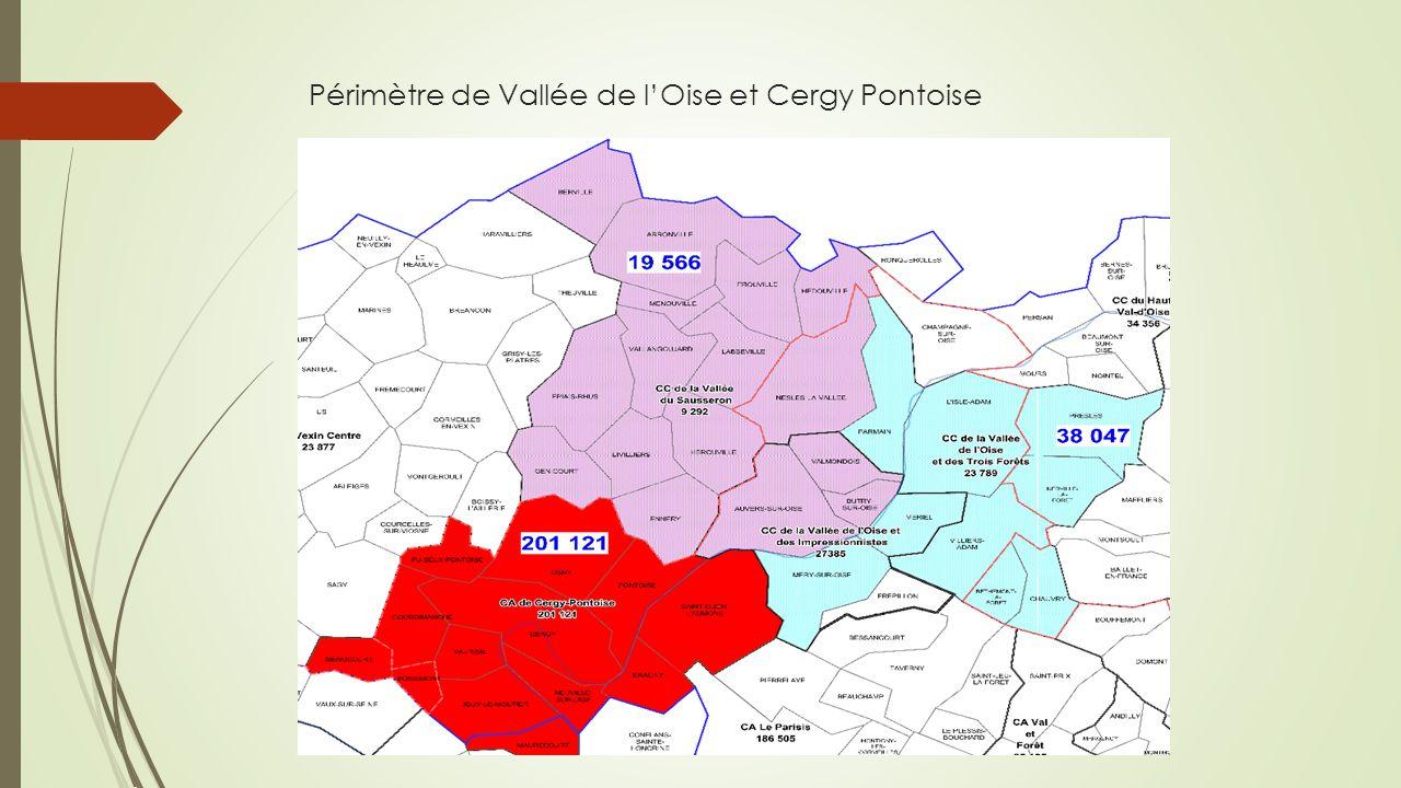 Périmètre de Vallée de l'Oise et Cergy Pontoise