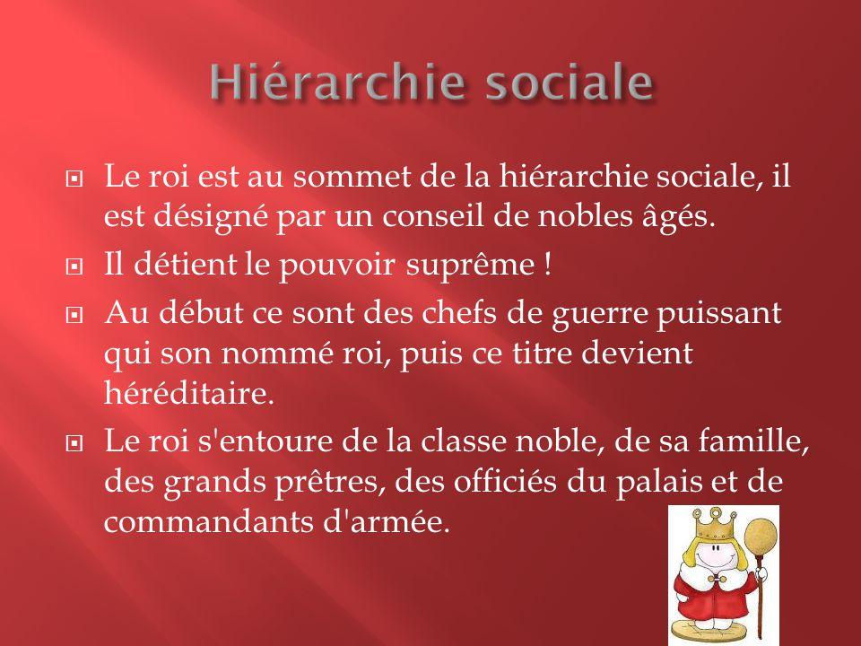 Les prêtres, les fonctionnaires et les scribes sont au milieu de la hiérarchie sociale.