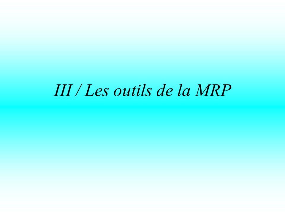 III / Les outils de la MRP