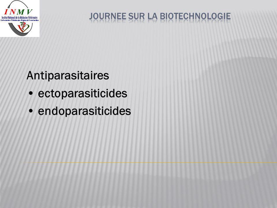 Antiparasitaires ectoparasiticides endoparasiticides