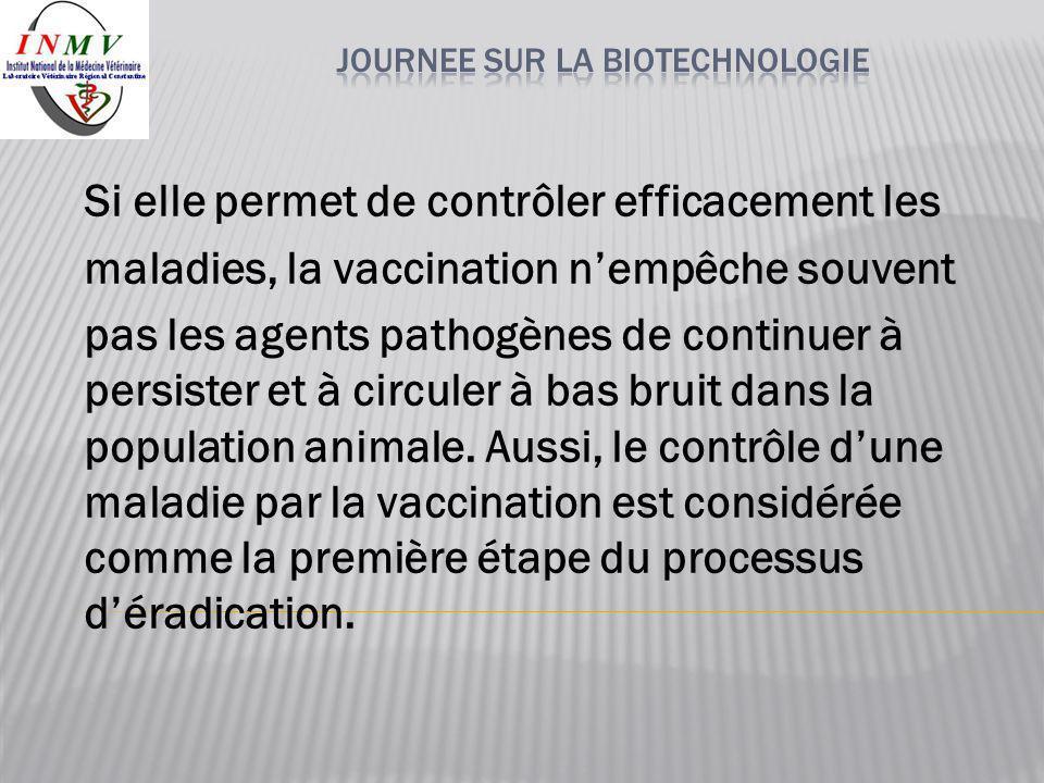 Si elle permet de contrôler efficacement les maladies, la vaccination n'empêche souvent pas les agents pathogènes de continuer à persister et à circul