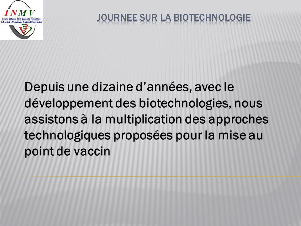 Depuis une dizaine d'années, avec le développement des biotechnologies, nous assistons à la multiplication des approches technologiques proposées pour