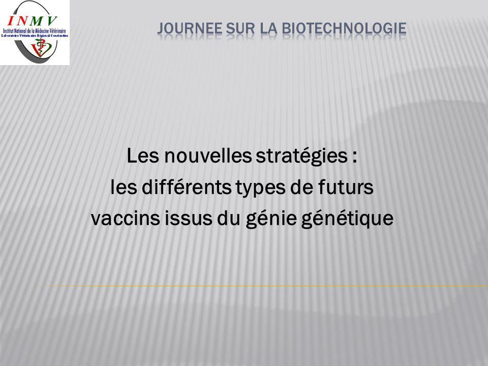 Les nouvelles stratégies : les différents types de futurs vaccins issus du génie génétique