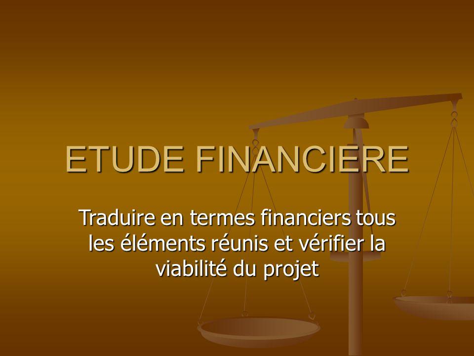 Démarche : répondre à 4 questions Capitaux nécessaires pour lancer le projet : plan de financement initial où l'on évalue les besoins durables de financement et l'on recense les ressources financières durables.