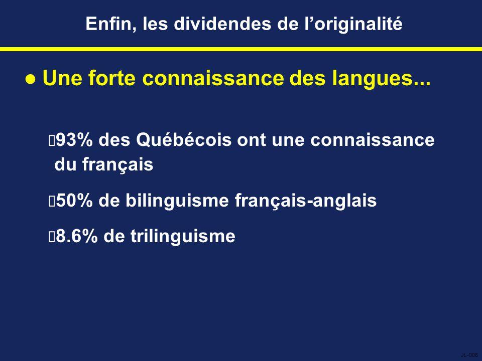 Enfin, les dividendes de l'originalité Une forte connaissance des langues...