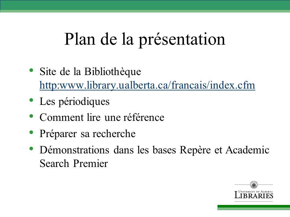Site de la Bibliothèque Bases de données dans le domaine de l'éducation Bases de données dans le domaine de l'éducation Ressources en français Index versus catalogue de la Bibliothèque