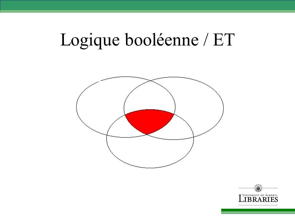 Logique booléenne / ET