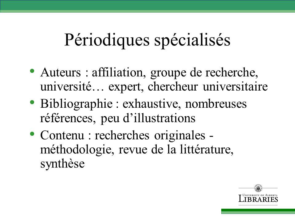 Interrogations / démonstrations Academic Search Premier Repère Catalogue de la Bibliothèque QUESTIONS ?