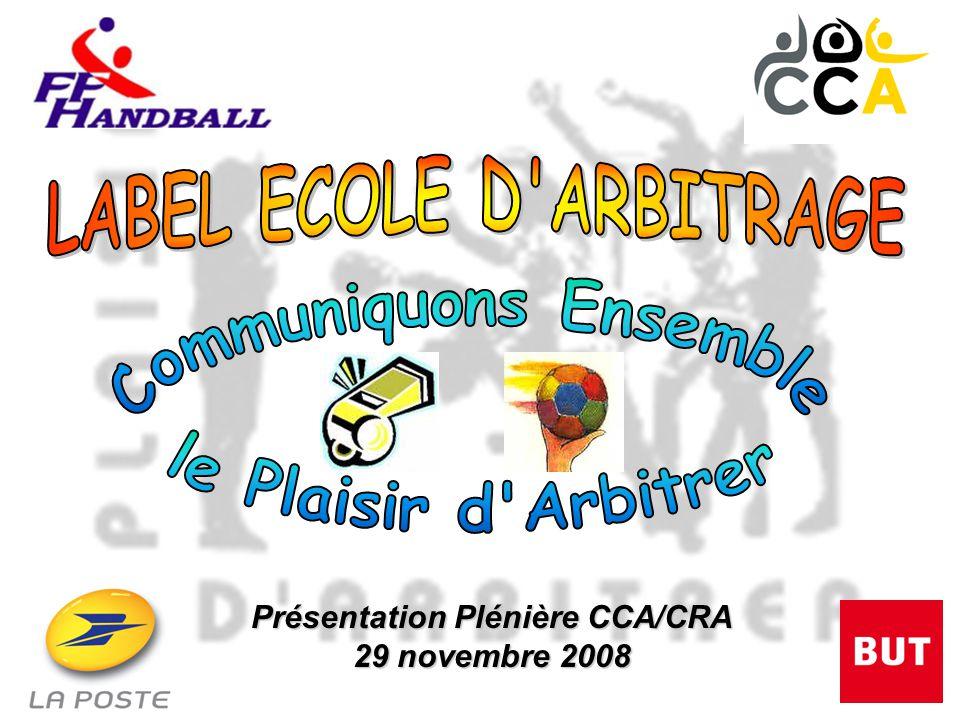 Présentation Plénière CCA/CRA 29 novembre 2008