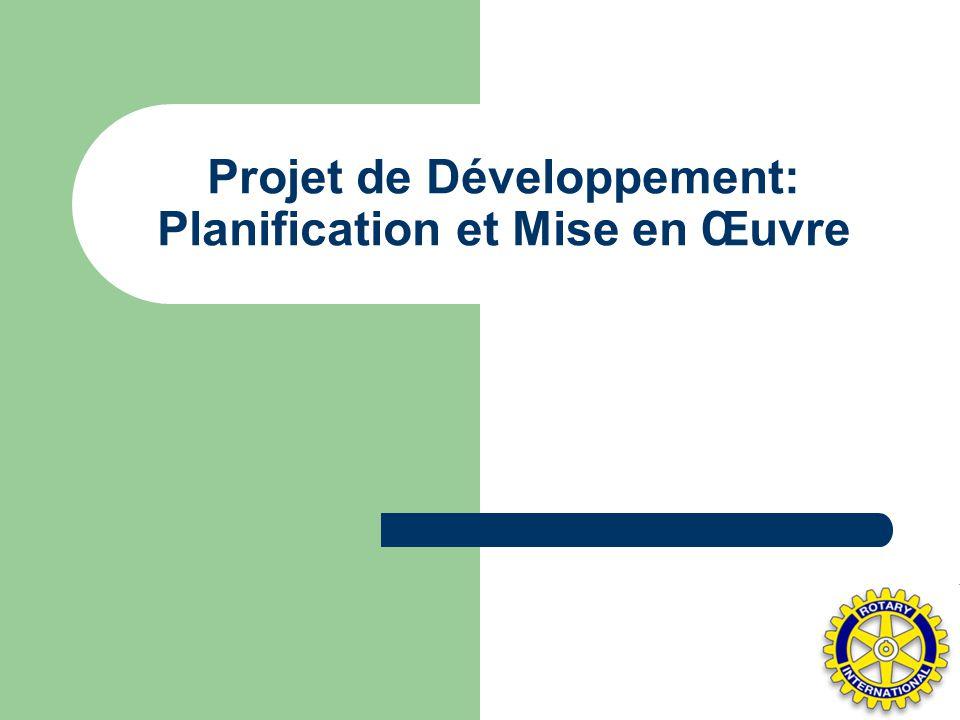 Projet de Développement: Planification et Mise en Œuvre