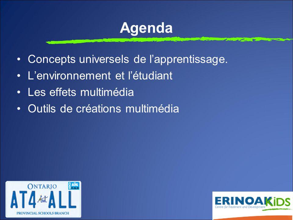 Agenda Concepts universels de l'apprentissage.
