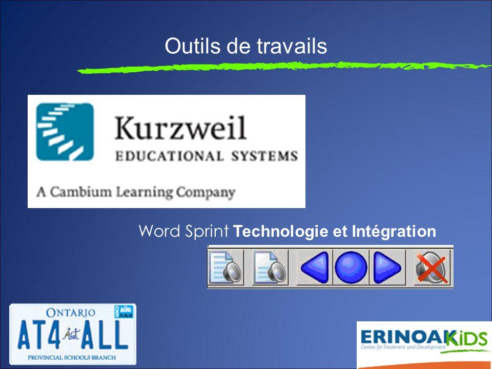 Outils de travails Word Sprint Technologie et Intégration