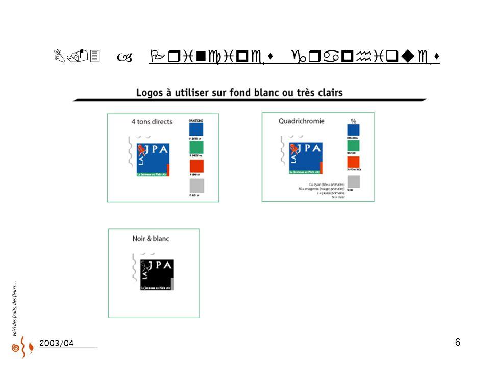 6 ..3 – Principes graphiques 2003/04