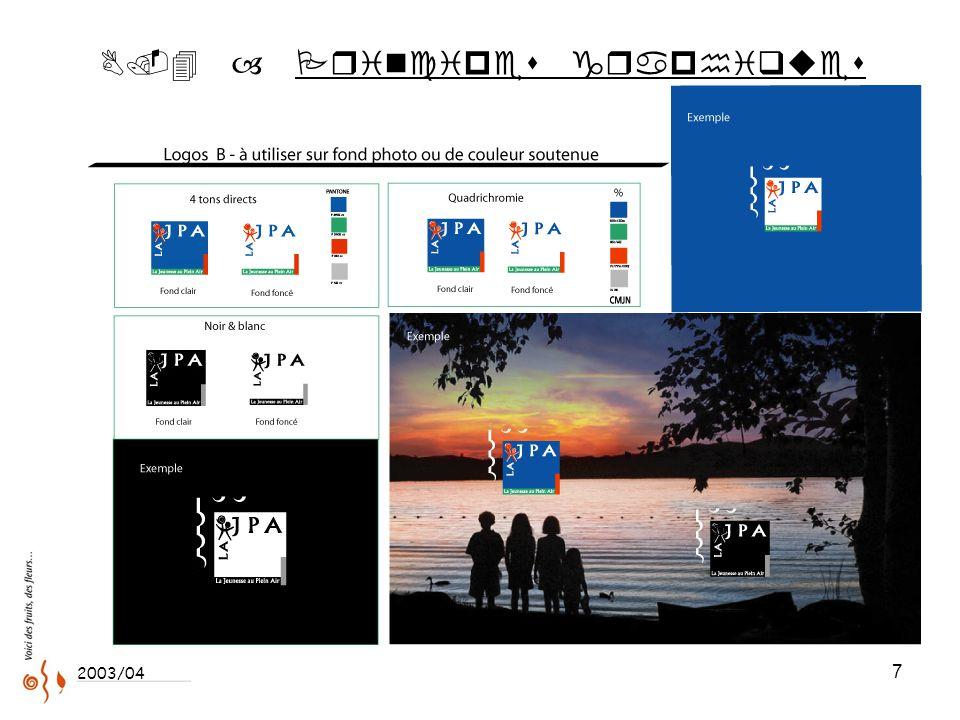 7 ..4 – Principes graphiques 2003/04