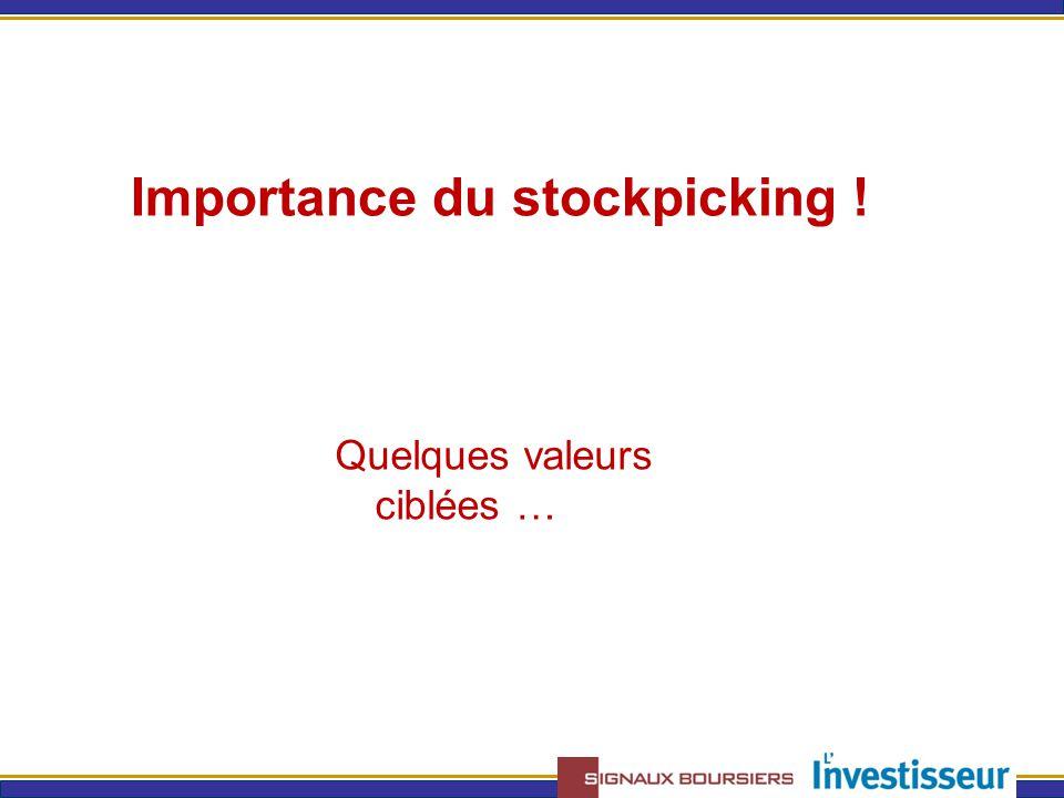 Importance du stockpicking ! Quelques valeurs ciblées …
