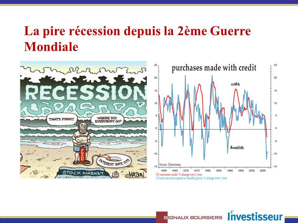 La pire récession depuis la 2ème Guerre Mondiale