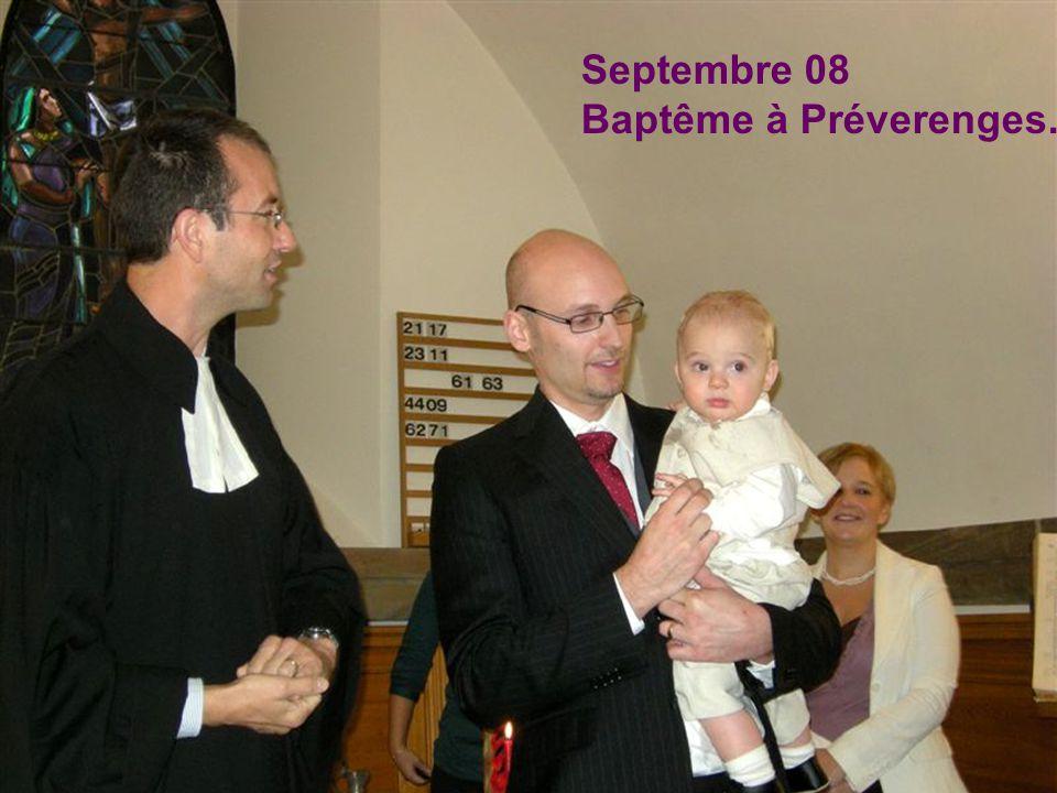 Septembre 08 Baptême à Préverenges.