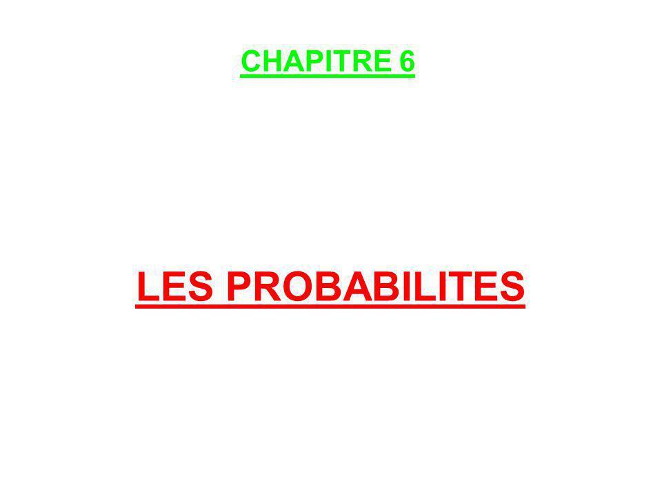 LES PROBABILITES CHAPITRE 6