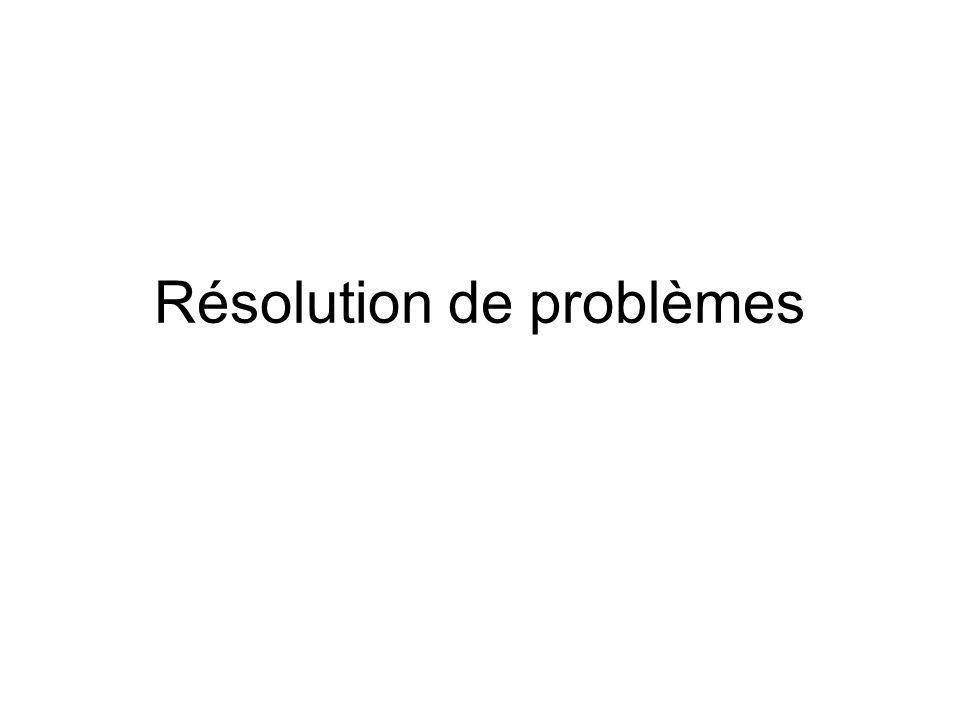 Démarche de résolution 1.Comprendre le problème. 2.