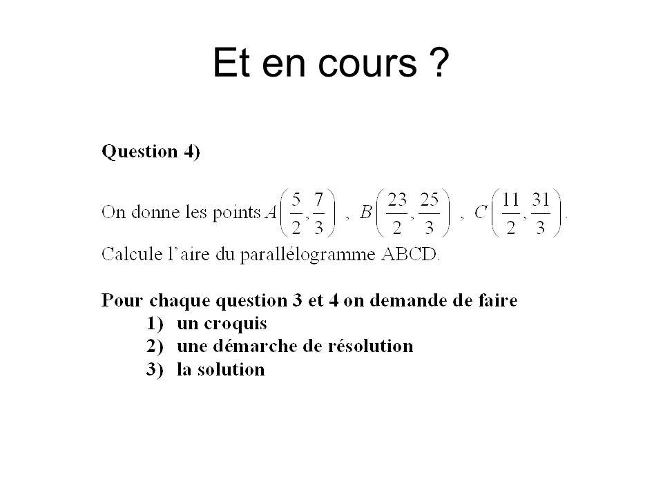 Réponses d'élèves