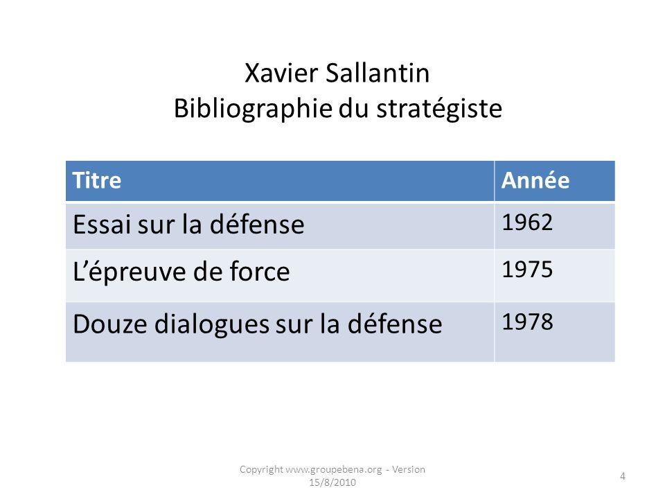 Xavier Sallantin : officier de marine, stratégiste et « chercheur de sens » 1922 : 8 juillet, naissance de Xavier Sallantin à Alençon 1942 : reçu deux
