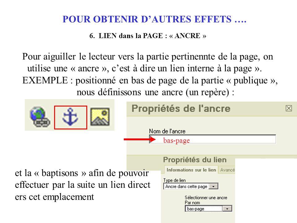 POUR OBTENIR D'AUTRES EFFETS …. 6.