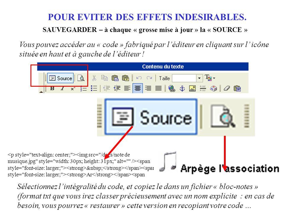 Ar <span Vous pouvez accéder au « code » fabriqué par l'éditeur en cliquant sur l' icône située en haut et à gauche de l'éditeur .