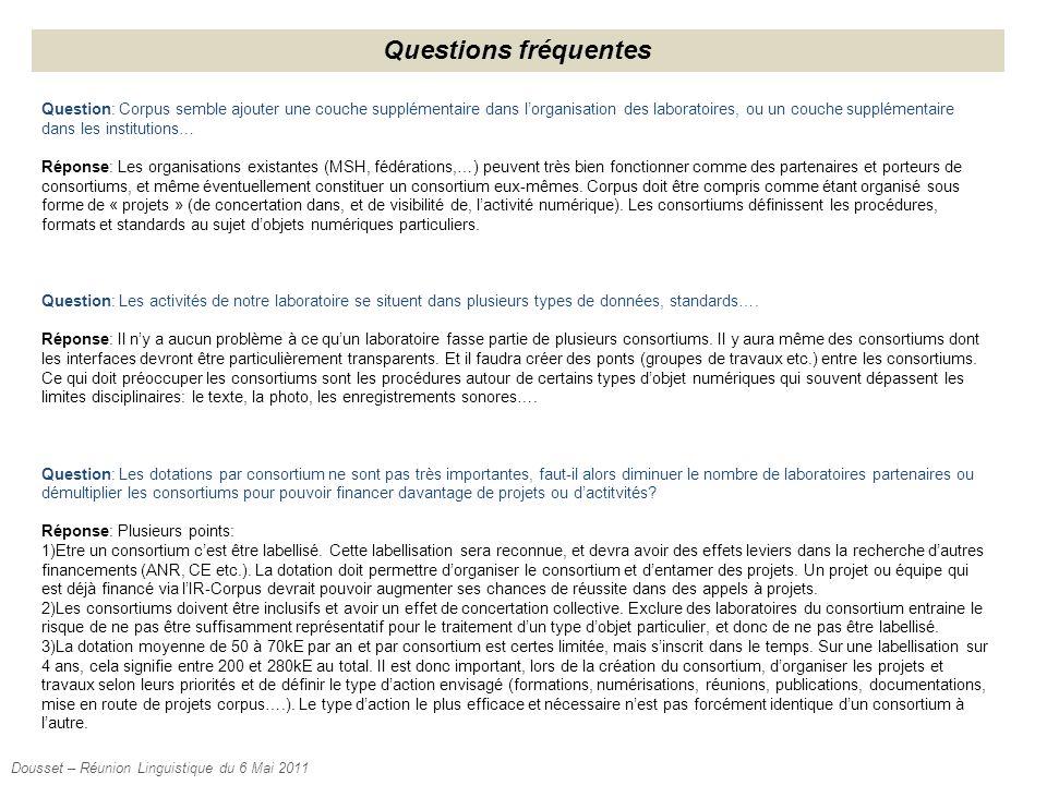 Questions fréquentes Question: Corpus semble ajouter une couche supplémentaire dans l'organisation des laboratoires, ou un couche supplémentaire dans