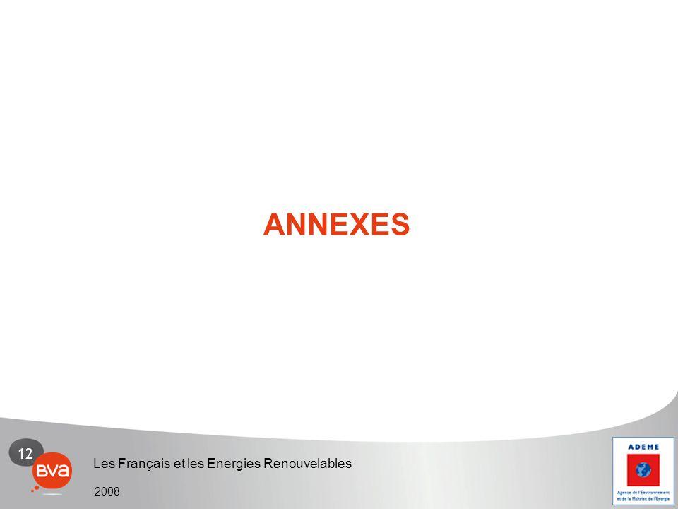 12 Les Français et les Energies Renouvelables 2008 ANNEXES