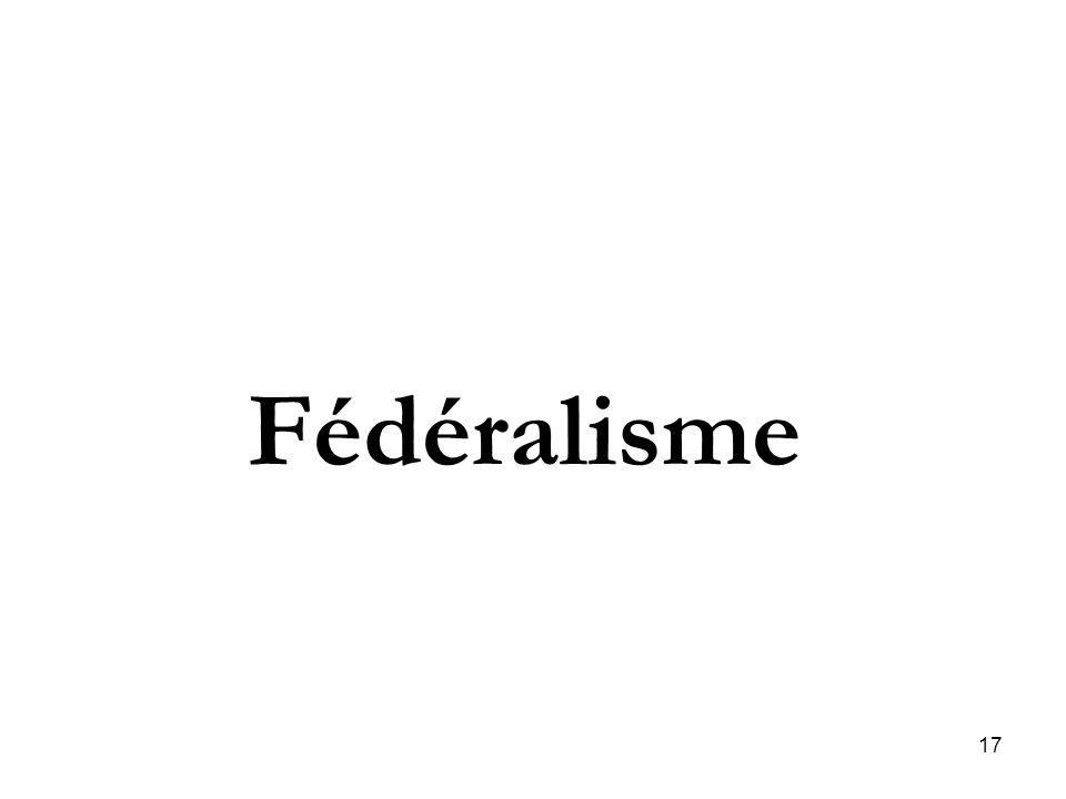 17 Fédéralisme