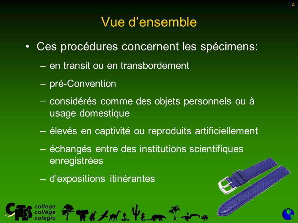 45 Les conditions suivantes doivent être remplies pour l exportation: –L établissement doit produire des spécimens conformément à la résolution Conf.