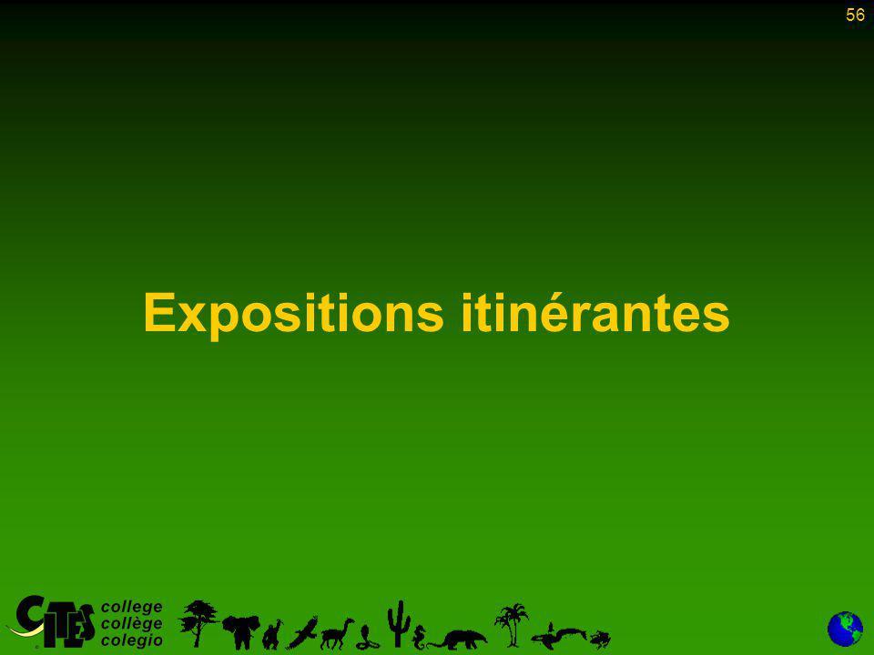 56 Expositions itinérantes