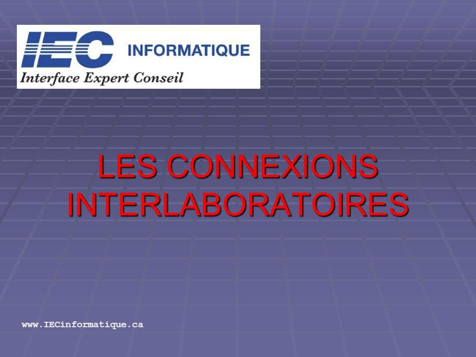 LES CONNEXIONS INTERLABORATOIRES www.IECinformatique.ca