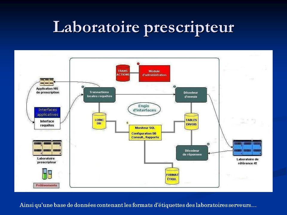 Ainsi qu'une base de données contenant les formats d'étiquettes des laboratoires serveurs…