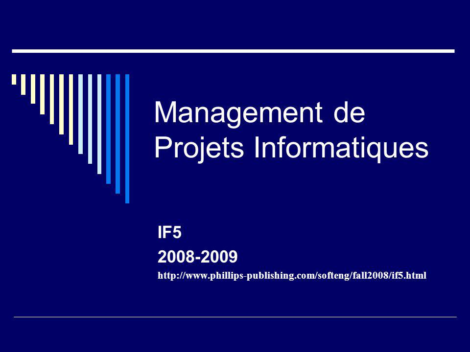 Management de Projets Informatiques IF5 2008-2009 http://www.phillips-publishing.com/softeng/fall2008/if5.html