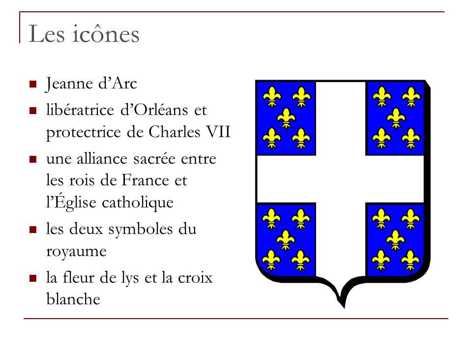 Les icônes Jeanne d'Arc libératrice d'Orléans et protectrice de Charles VII une alliance sacrée entre les rois de France et l'Église catholique les de