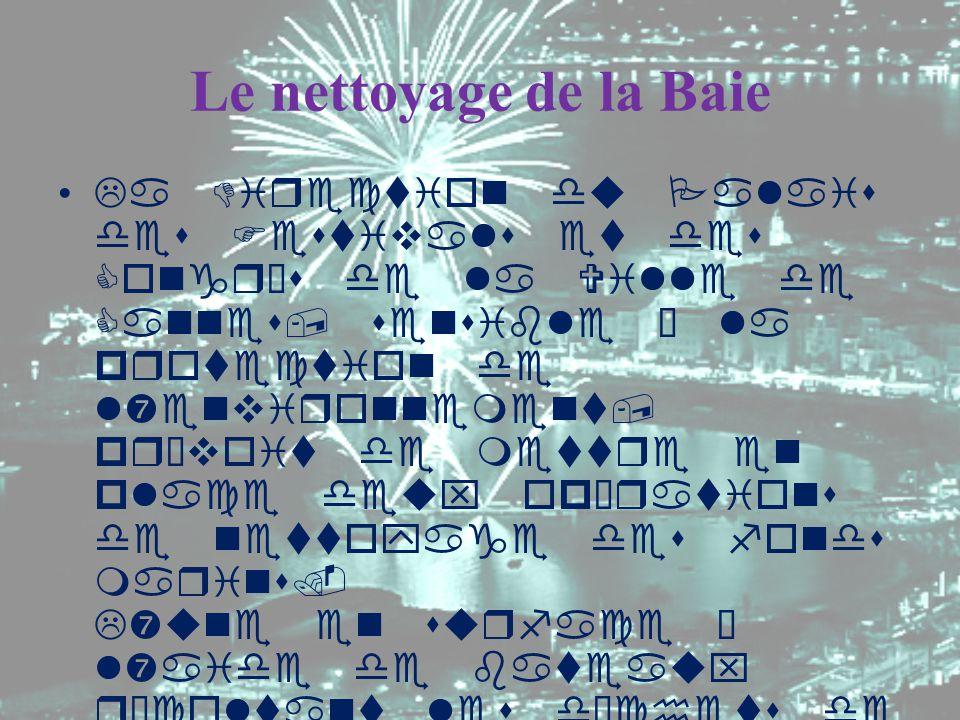 Le nettoyage de la Baie La Direction du Palais des Festivals et des Congrès de la Ville de Cannes, sensible à la protection de l'environnement, prévoi