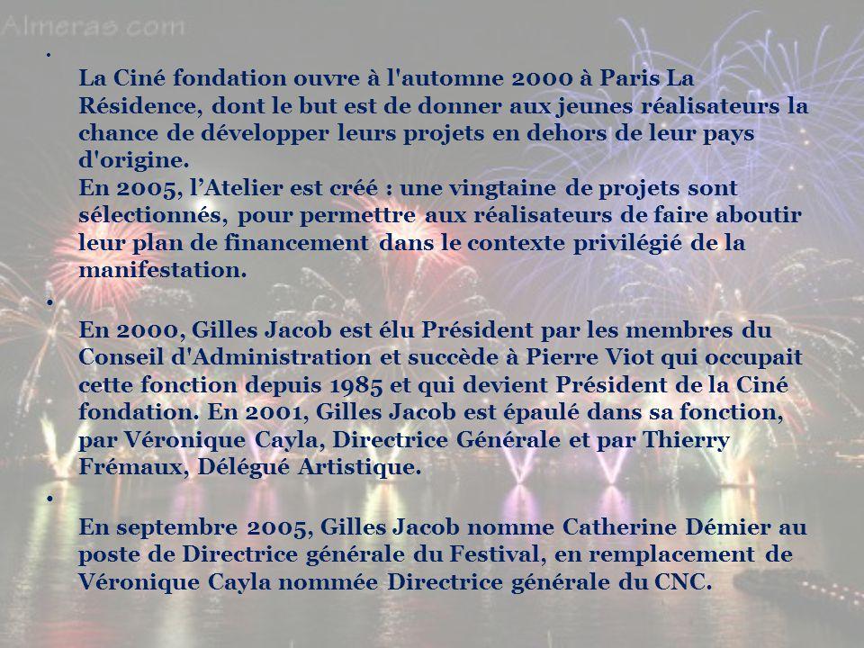 L a Ciné fondation ouvre à l'automne 2000 à Paris La Résidence, dont le but est de donner aux jeunes réalisateurs la chance de développer leurs projet