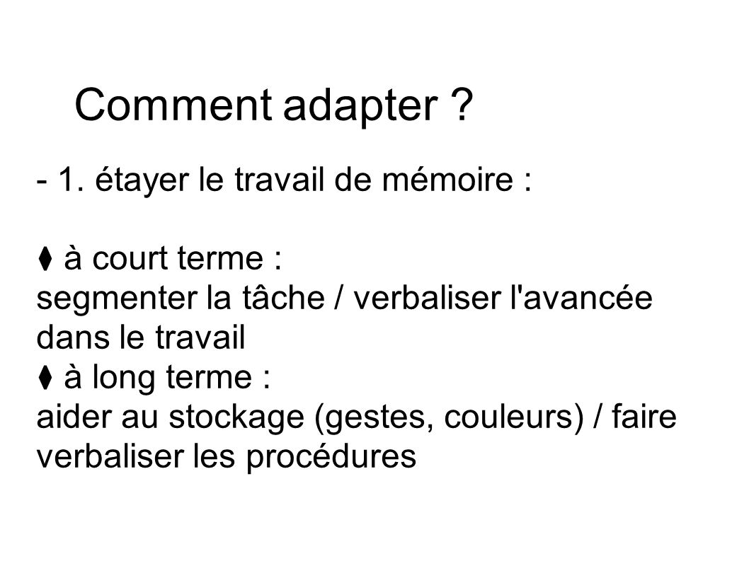 Comment adapter . - 1.